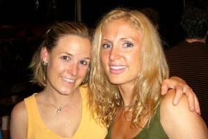 Suzanne (left) with Rebecca Desman
